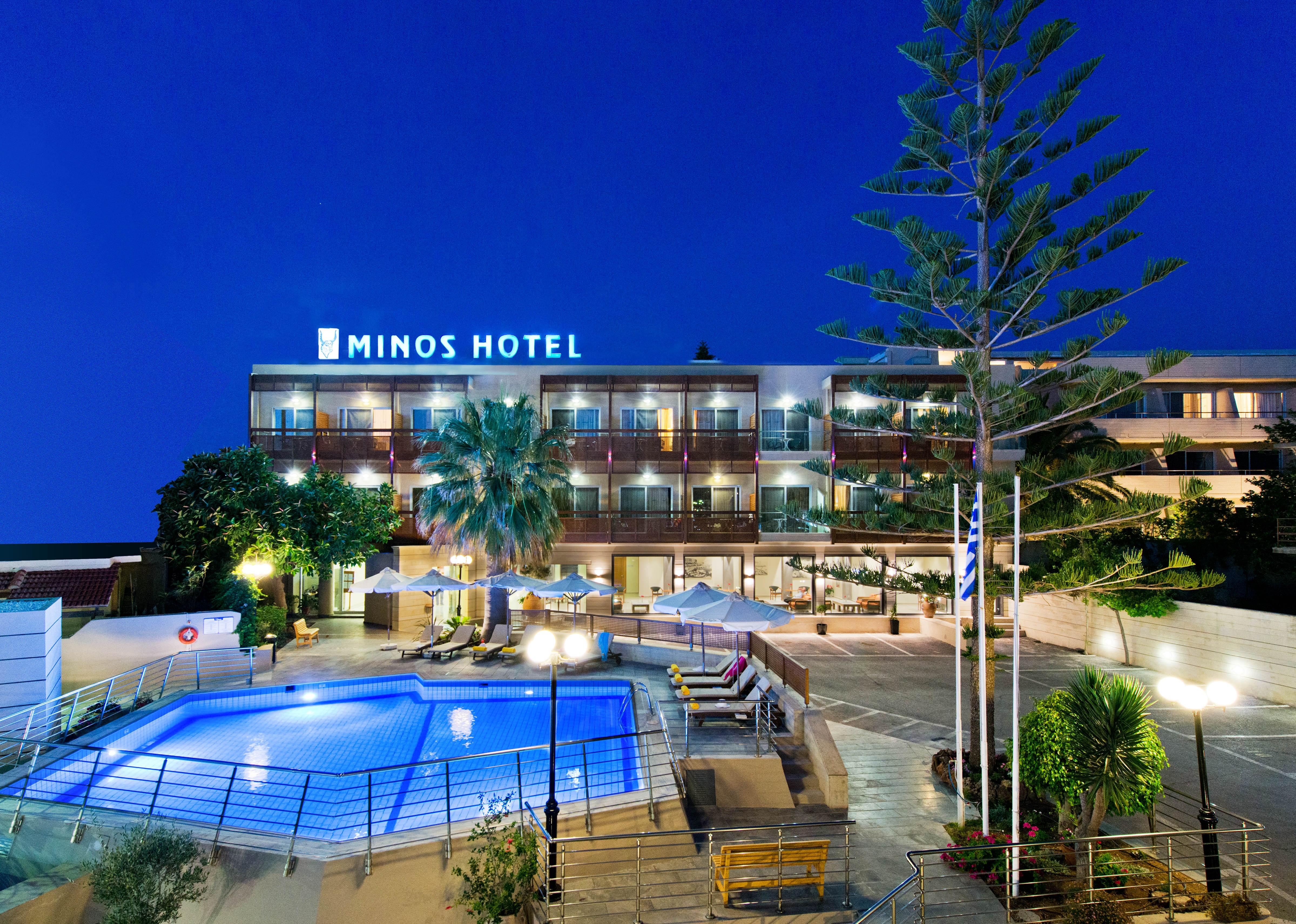 Minos Hotel In Rethymno Crete 4 Star Hotel Rethymno